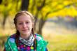 Quadro girl at the autumn park