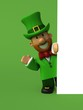 Leprechaun - 3D Illustration - 161951241