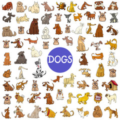 cartoon dog characters huge set