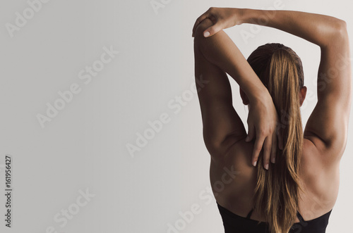 Stretching my arms - 161956427
