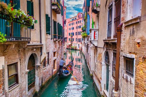 Spoed canvasdoek 2cm dik Venetie Gondola in Venice, Italy