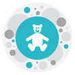 Vector Illustration Of Kid Symbol On Bear Toys Icon. Premium Quality Isolated Teddy Element In Trendy Flat Style.