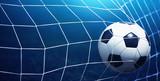 Soccer ball in goal - 161979003
