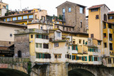 houses on medieval Ponte Vecchio in Florence