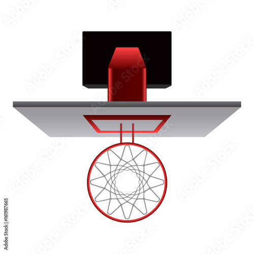Top view of a basketball net