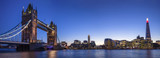 Tower Bridge, The Shard & The City Of London During Blue Hour - 162001037