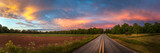 Beautiful sky with country road - 162004457