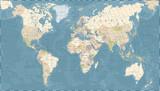 Fototapety Vintage World Map - Vector Illustration