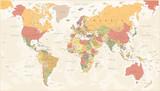 Vintage World Map - Vector Illustration - 162007468