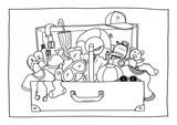 Ausmalbild - Koffer packen - 162008606