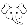Stuffed animal elephant icon vector illustration design image