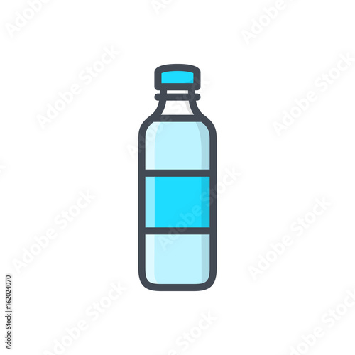 Bottle of water colored icon