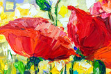 Oil Painting, Impressionism style, texture painting, flower still life painting art painted color image, - 162024405