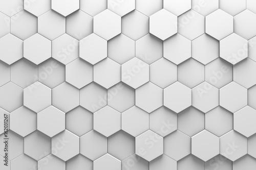 Hexagonal Tiles 3D Pattern Wall - 162031267