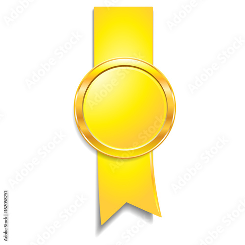 Foto op Canvas Medal isolated object on background