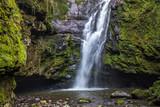 Cachoeira na floresta atlântica.