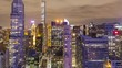 Time lapse! Midtown Manhattan New York City at night from high above