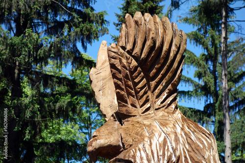 Statue of wood, eagle