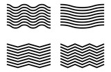 Wavy and zig-zag lines. Waving lines element set - 162096885