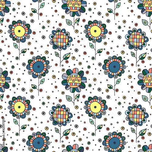 bezszwowa-wektorowa-reka-rysujacy-doodle-dziecinny-kwiecisty-wzor-tlo-z-dziecinnymi-kwiatami-liscmi-dekoracyjna-sliczna-graficzna-kreskowa-rysunkowa-ilustracja-nadruk-do-pakowania-tlo-tkanina-dekoracje