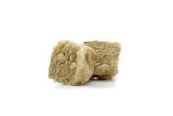 Mineral wool for insulation. The fiberglass is isolated on white. - 162105653