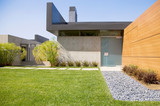 Fototapety Modern house with pool in exterior