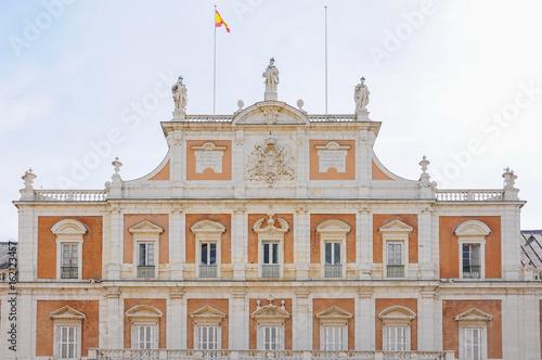 Fachada del Palacio Real de Aranjuez. Madrid, España Poster