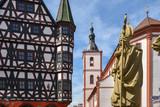 Rathaus und Stadtpfarrkirche St. Blasius in Fulda