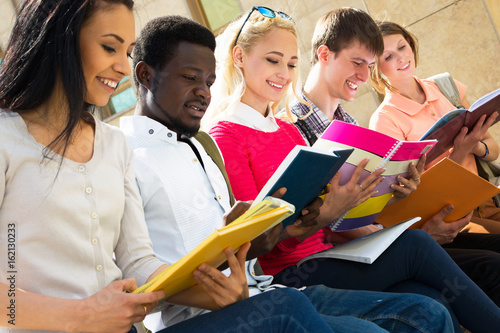 Poster Group of multi-ethnic students