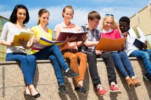 Group of multi-ethnic students Poster