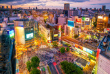 Fototapety Shibuya Crossing from top view in Tokyo