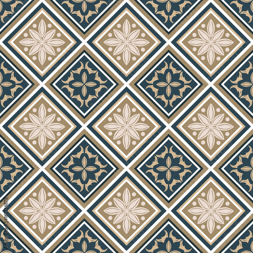 Seamless pattern with colorful patchwork. Seamless background for textile, wallpaper, pattern fills, covers, surface, print, gift wrap, packaging paper, ceramic tile - 162136878