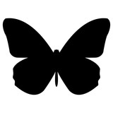 Butterfly  the black color icon .