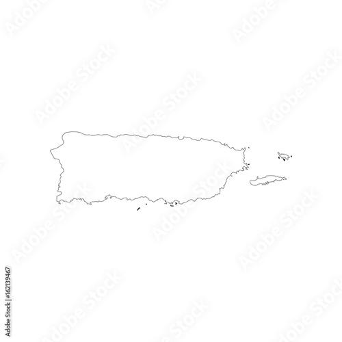 Fototapeta Puerto Rico map