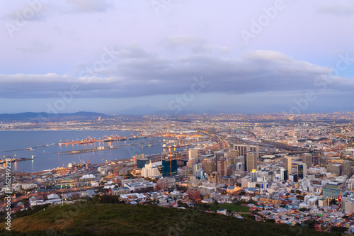 Deurstickers Amsterdam Aerial view of Cape Town from Signal Hill, South Africa