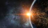 Księżyc i planeta Ziemi