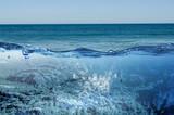 Ocean underwater view . Mixed media - 162149879