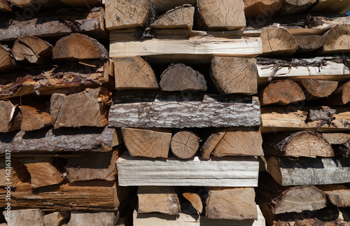 Background of firewood.