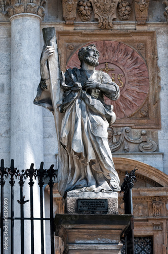statues of the twelve apostles in Krakow, at the Church Peter and St Paul © mila103