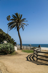 View overlooking Santa Monica beach