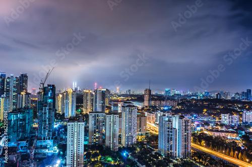 Foto op Canvas Kuala Lumpur Mont Kiara Night
