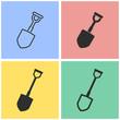 Shovel - vector icon.