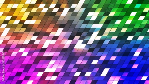 Broadcast Twinkling Slant Hi-Tech Squares, Multi Color, Abstract, Loopable, 4K © Acme Designs