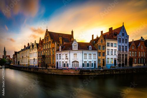 Foto op Canvas Brugge Beautiful view of Brugge (Bruges) old historical town in Belgium
