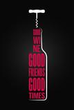 wine bottle logo design background - 162219824
