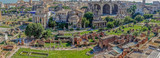Panoramic view over the ruins of the Roman Forum - 162228844