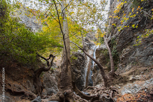 A view of a small waterfall in troodos mountains in cyprus Poster