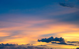 Orange blue sky nature abstract in evening time