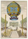 Montgolfiere balloon  first manned ascent. Date: 21st November 1783 - 162245600