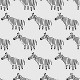 seamless zebra pattern - 162245661